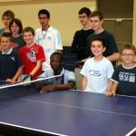 Abdel et les jeunes du club