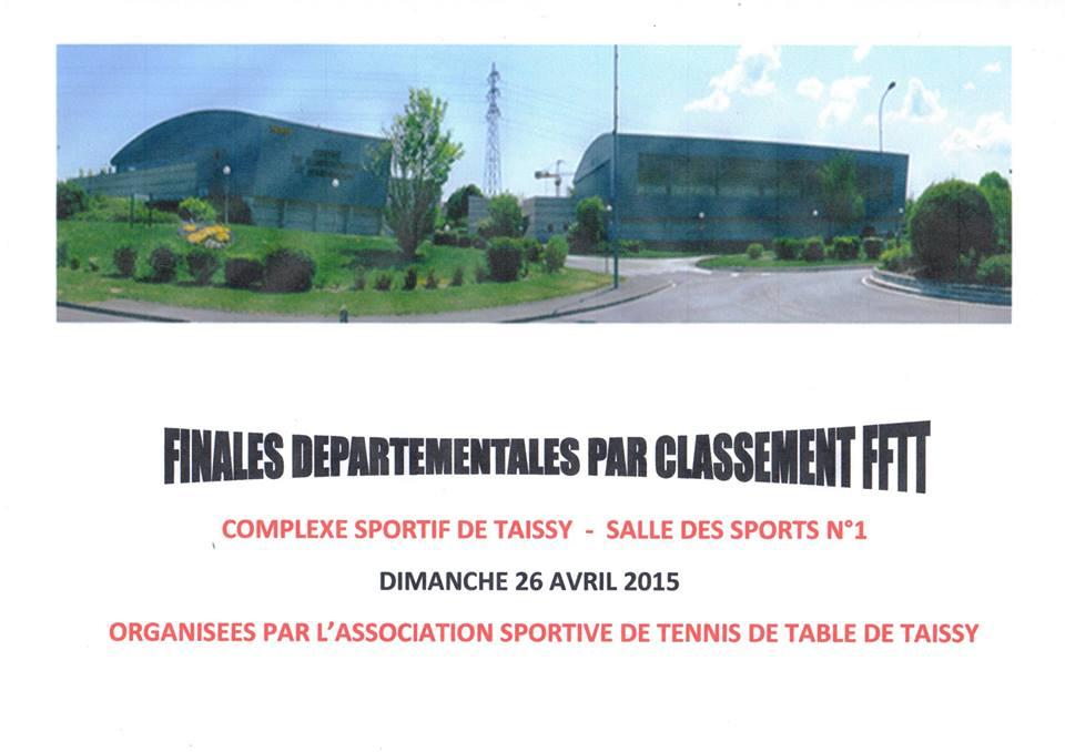Finales d partementales par classement 26 04 15 - Classement mondial tennis de table homme ...
