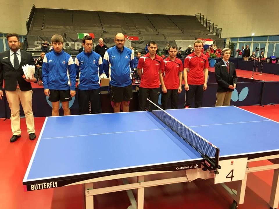 Championnat d europe sport adapt l quipe de france m daille d or par quipes r sultats et - Equipe de france de tennis de table ...